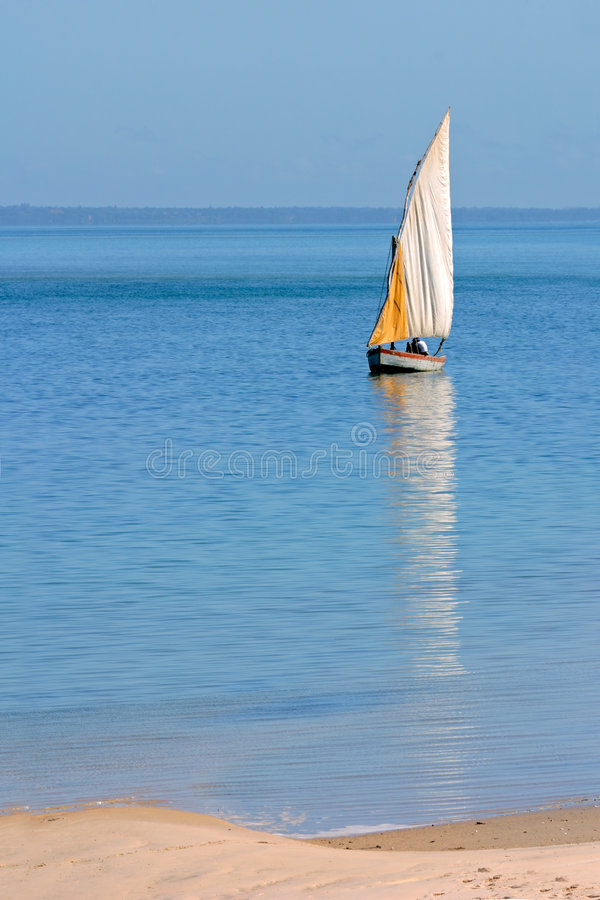 Download Mozambican dhow stock photo. Image of boat, quiet, mozambican - 5262474