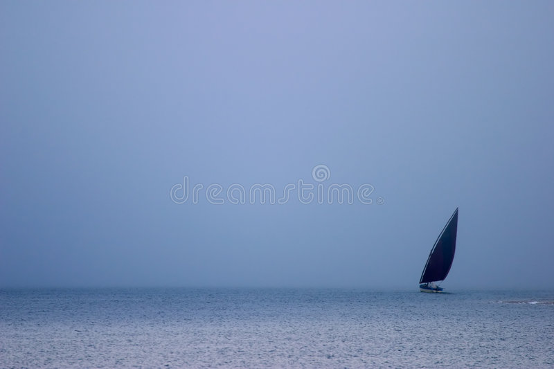 Download Mozambican dhow at sunset stock image. Image of coast - 2220825