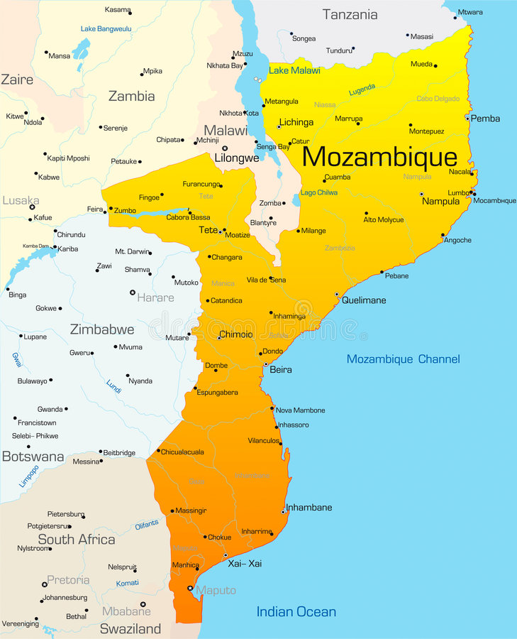 Mozambique stock illustration