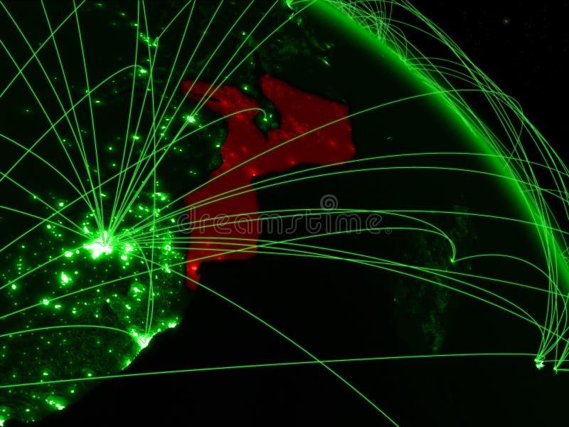 Mozambique en el globo verde libre illustration