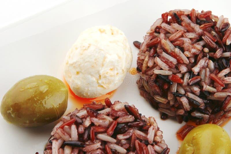 Download Mozarella Cheese And Dark Rice Stock Image - Image: 10405015