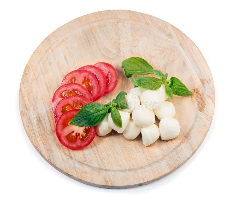 Mozarella en Tomaten stock foto's