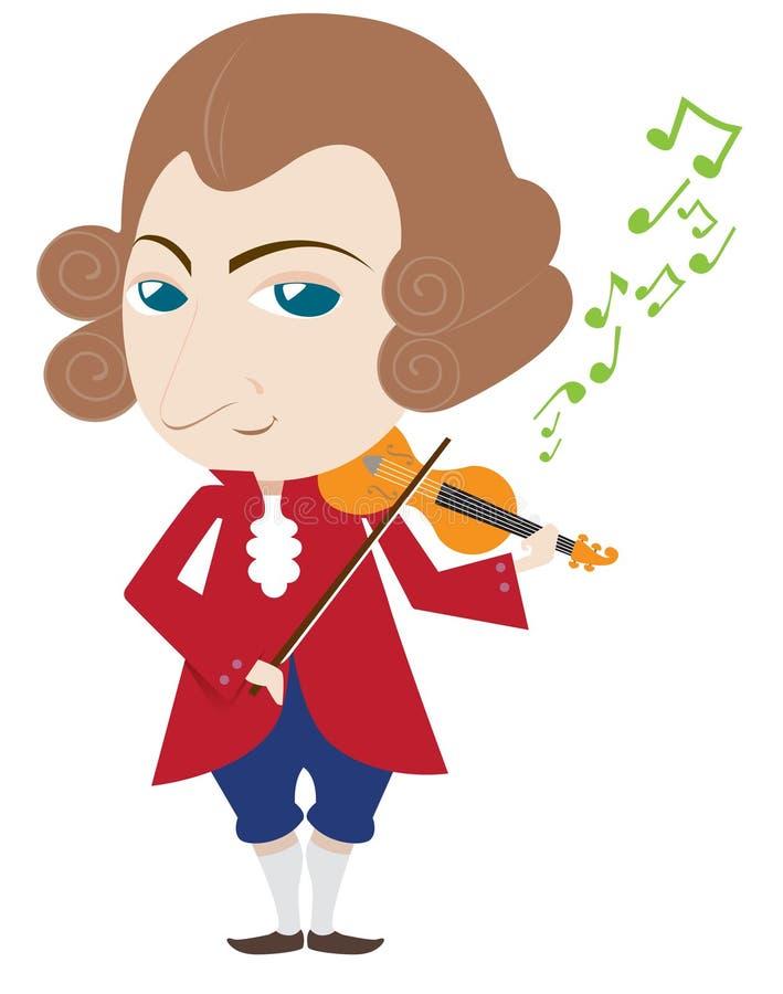 Mozart illustrazione vettoriale
