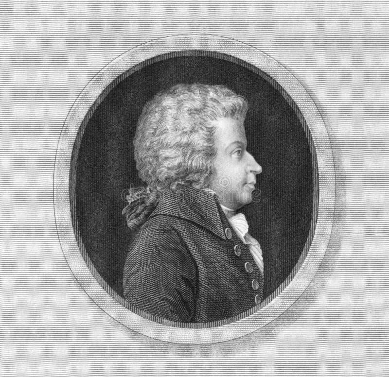 Mozart stock afbeelding
