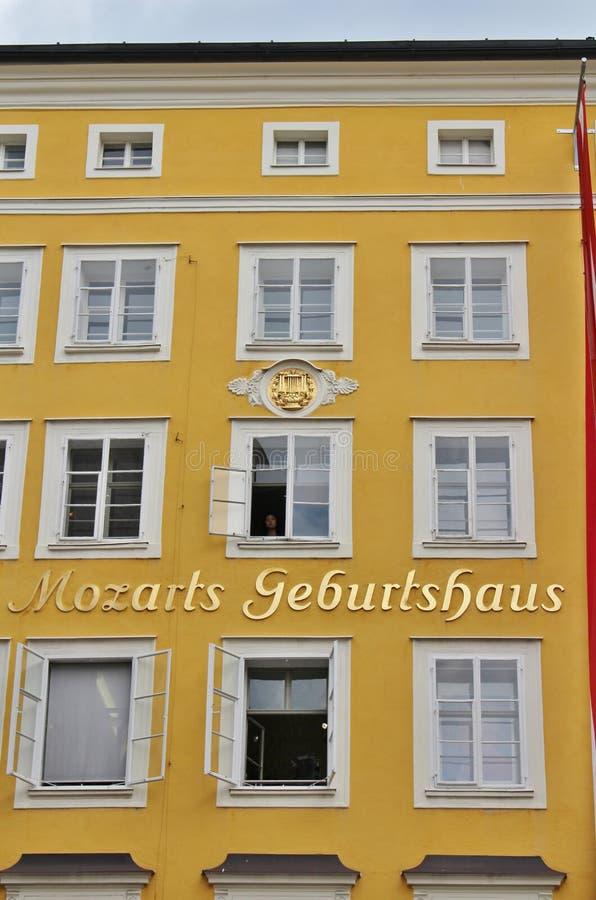 Mozart Geburtshaus, Salzburg stock photography