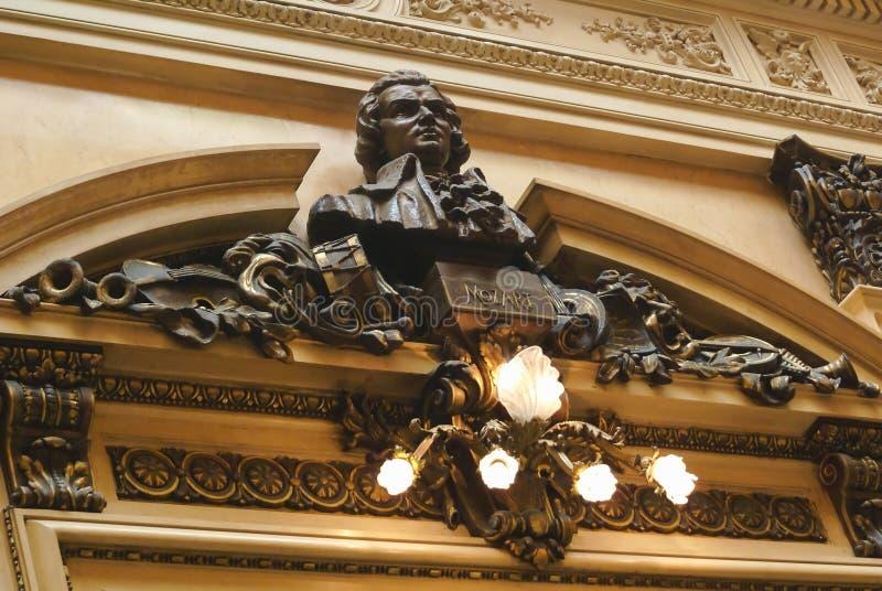 Mozart Hall aux deux points de Teatro photos stock