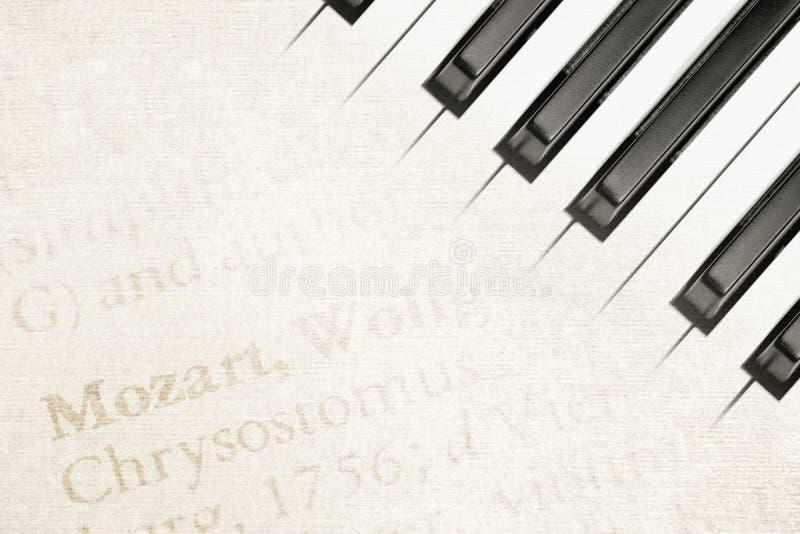 Mozart-Klavier stockbilder