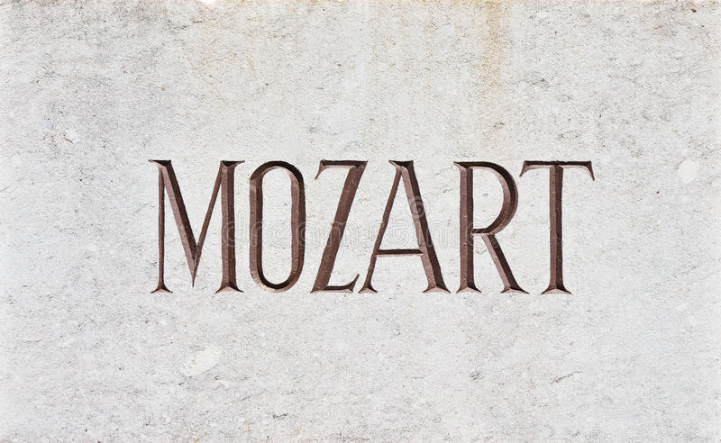 MOZART Letters stockfotos