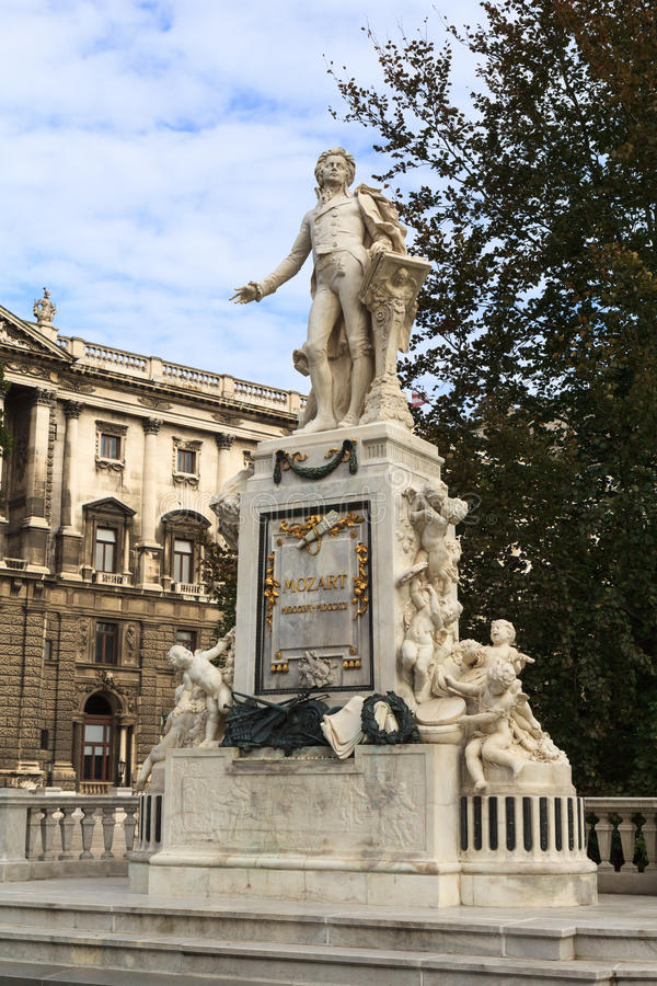 Mozart monument in Vien. Austria stock photography