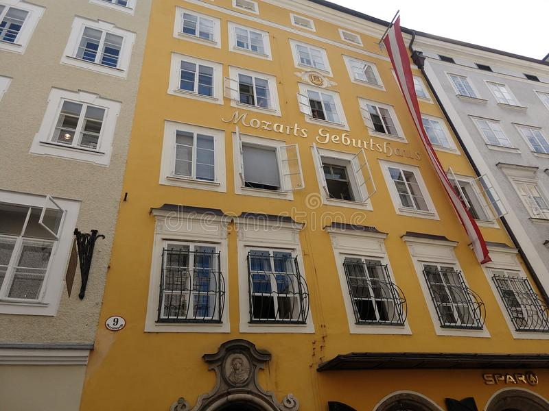 Mozart& x27; s房子1 免版税库存图片