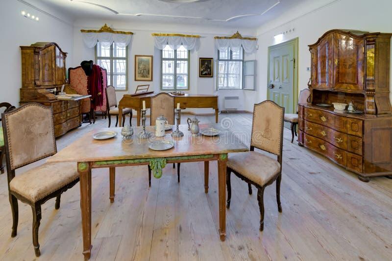 Mozart's birthplace (Mozarts Geburtshaus) in Salzburg, Austria royalty free stock photos