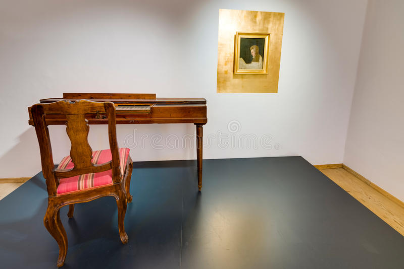 Mozart's birthplace (Mozarts Geburtshaus) in Salzburg, Austria royalty free stock photography