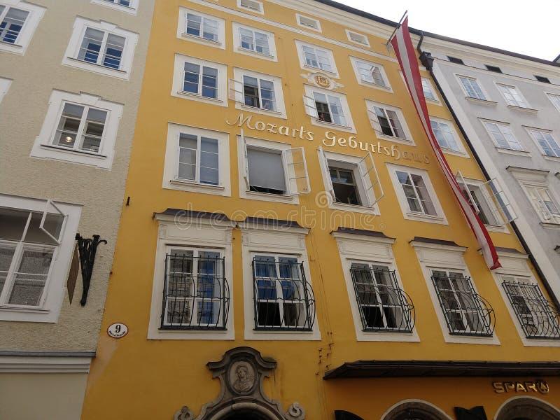 Mozart& x27; s-hus 1 royaltyfria bilder