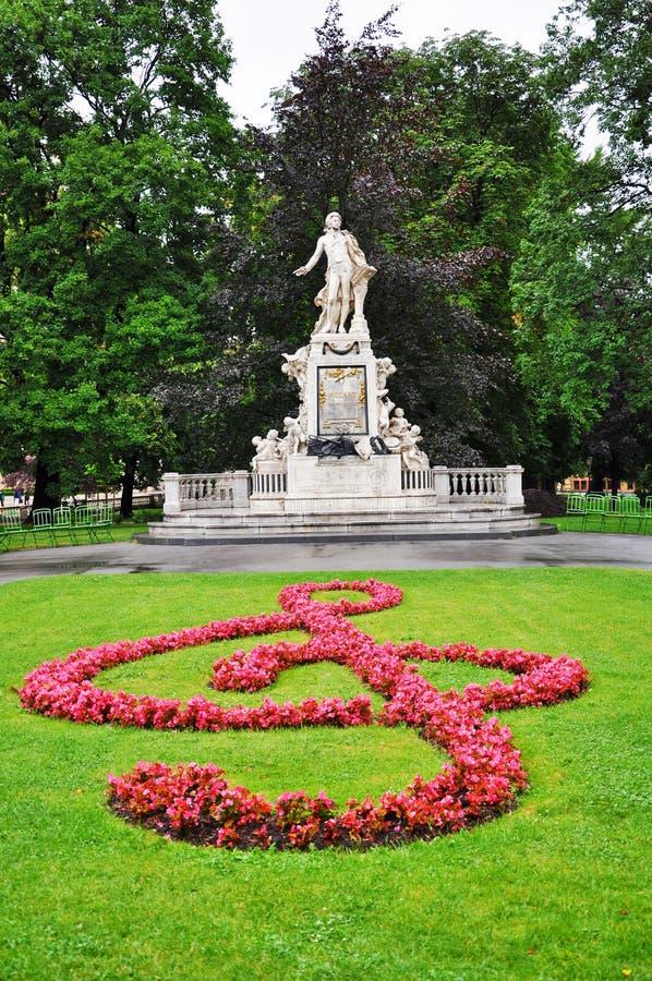 Mozart's statue in Vienna stock image