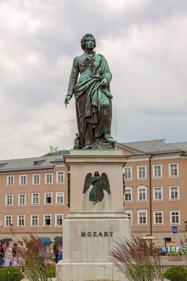 Mozart Statue, Salzburg royalty-vrije stock afbeelding