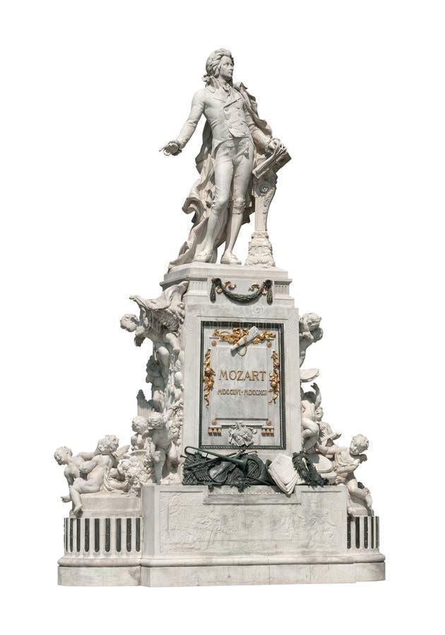 Mozart-Statue in Wien lizenzfreies stockfoto