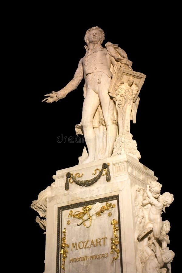 Mozart-Statue in Wien stockfoto