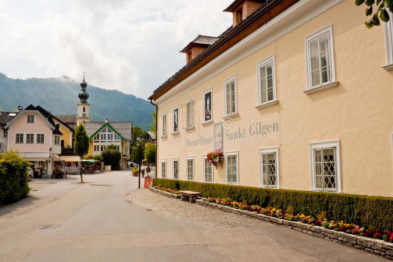 Download Mozarthouse And A Street In St. Gilgen Editorial Photo - Image: 35245881