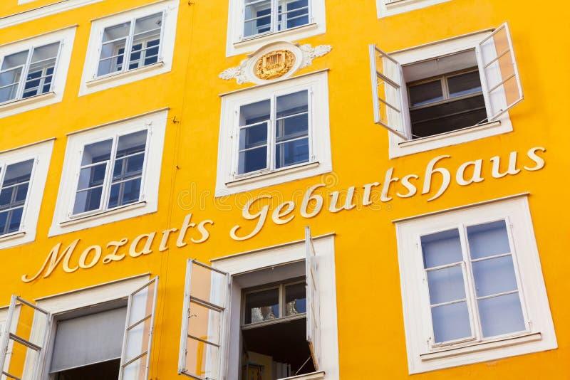 Mozarts Geburtshaus à Salzbourg, Autriche images stock