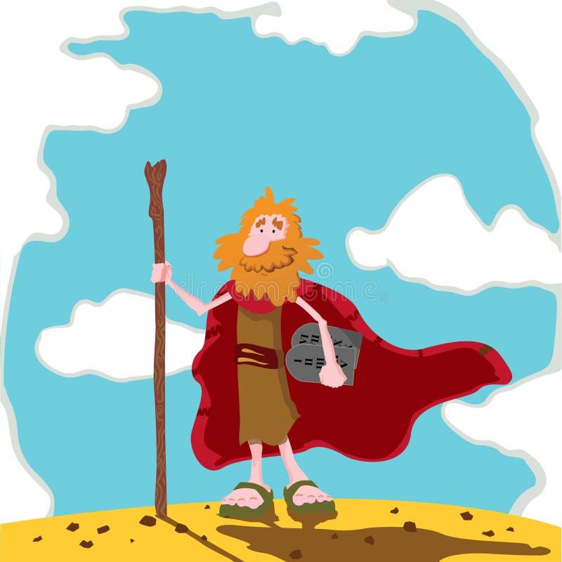 Mozes royalty-vrije illustratie