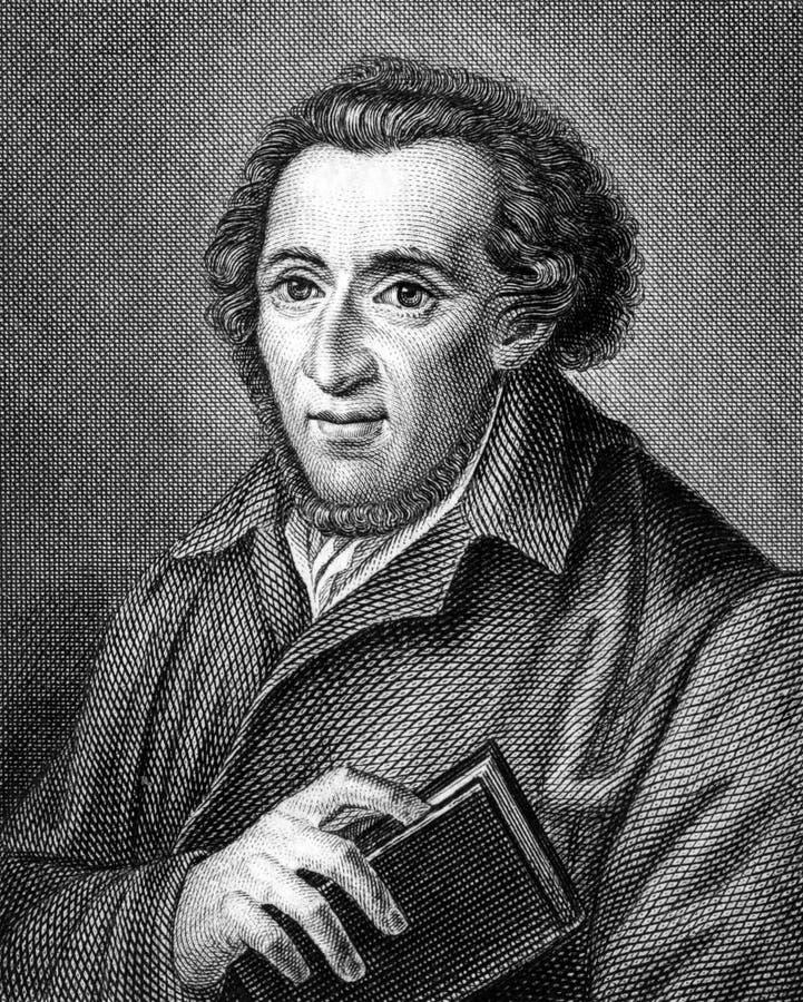 Mozes Mendelssohn stock afbeelding