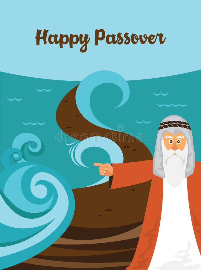 Free Mozes Splitting The Red Sea And Ordering Let My People Go Out Of Egypt. Story Of Jewish Holiday Passover. Royalty Free Stock Photo - 109274765