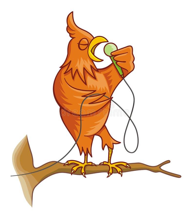 mozga pomarańczowy śpiew ptaka obraz stock