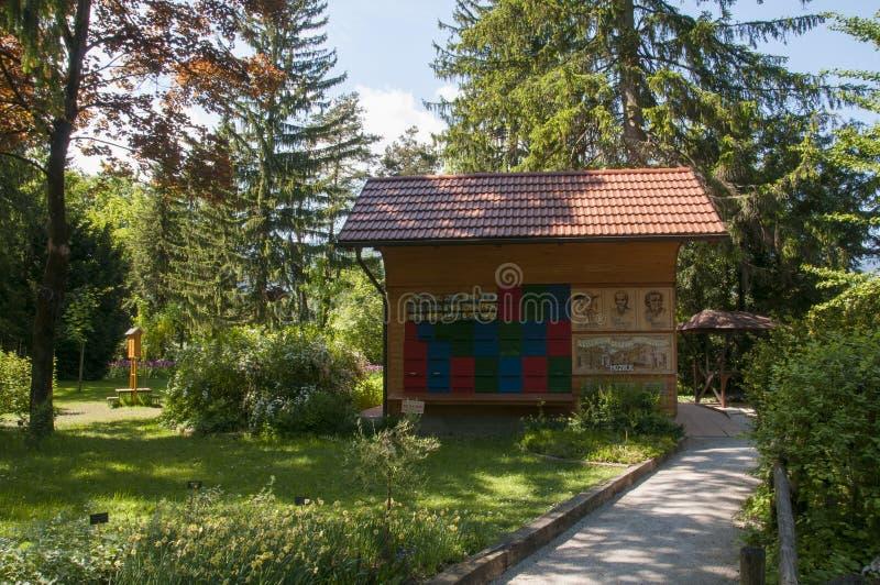 Mozirje, Slovenia - 5 maggio 2014: Variopinto tradizionale ed immagine fotografie stock