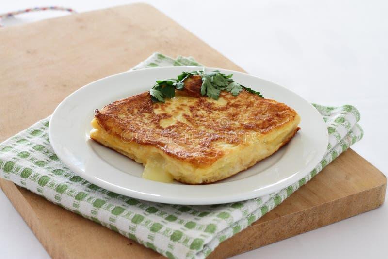 Mozzarella in carrozza stock photo