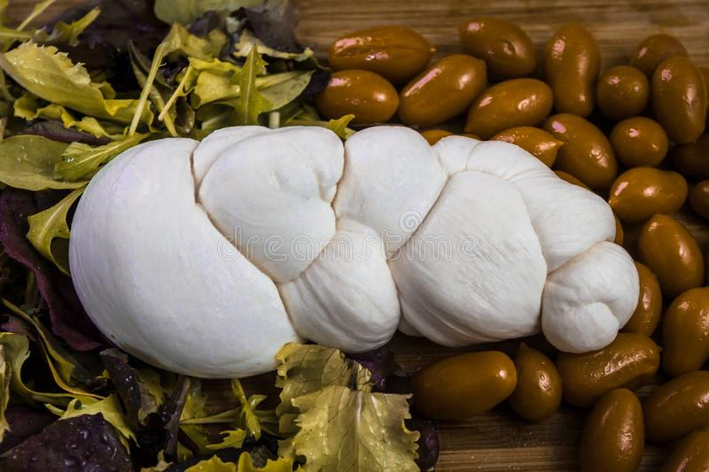 Mozzarella de Buffalo et jambon de parm image stock