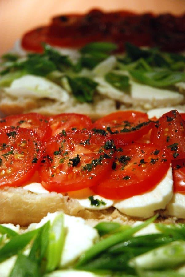 Mozzarella e tomates imagens de stock