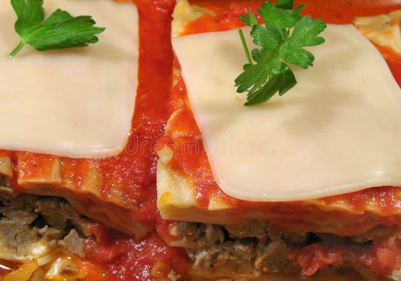 mozzarella lasagna стоковая фотография
