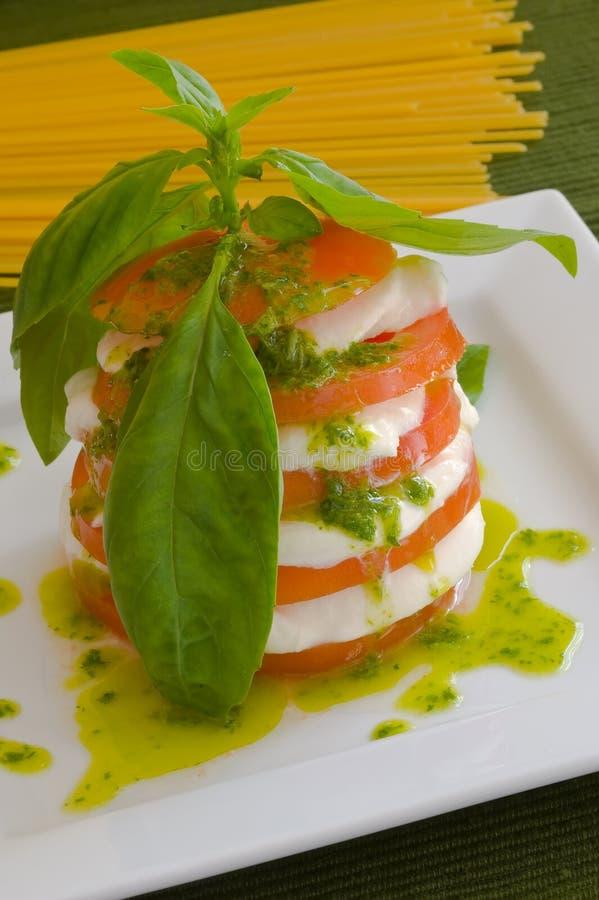 mozzarella sałatkę zdjęcia stock