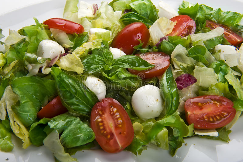 Mozzarella salad stock photos