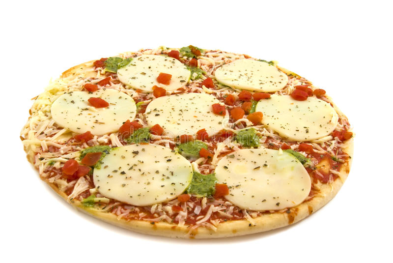 mozzarellapizza arkivbild