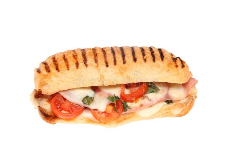 Mozzarelli i baleronu panini zdjęcia royalty free