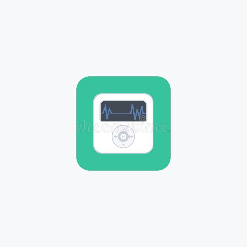 Mp3 giocatore [1] Musica icona marchio Illustrazione di vettore ENV 10 royalty illustrazione gratis
