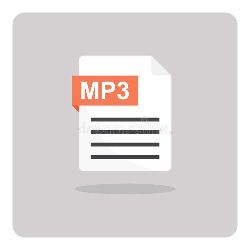 MP3 música, icono audio, sano del formato de archivo ilustración del vector