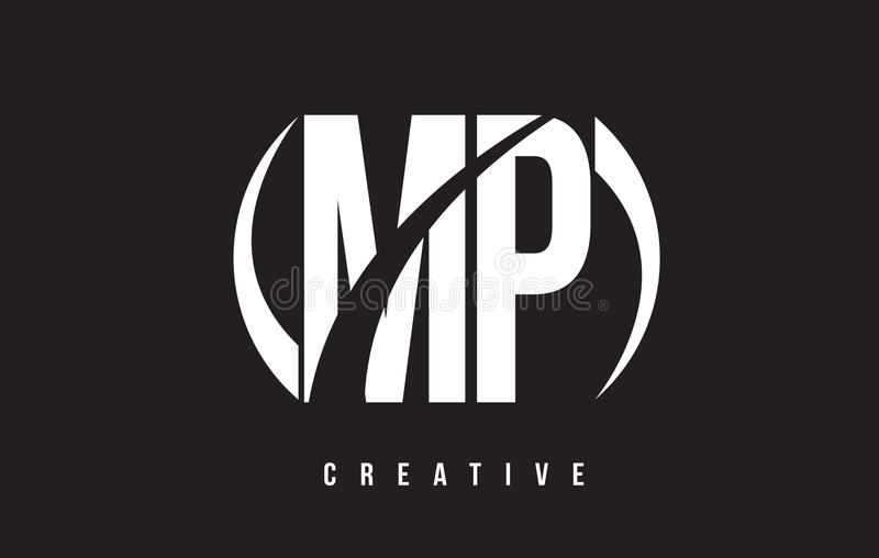 Mp m p white letter logo design with black background stock vector download mp m p white letter logo design with black background stock vector illustration of spiritdancerdesigns Images
