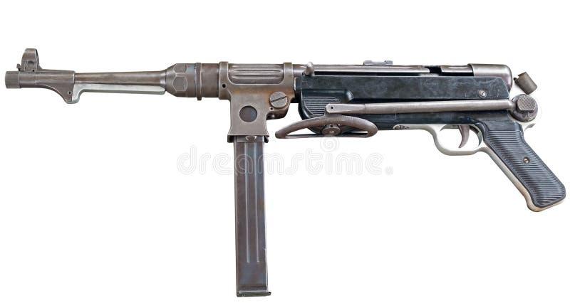 MP38/40 machinepistool op wit royalty-vrije stock foto