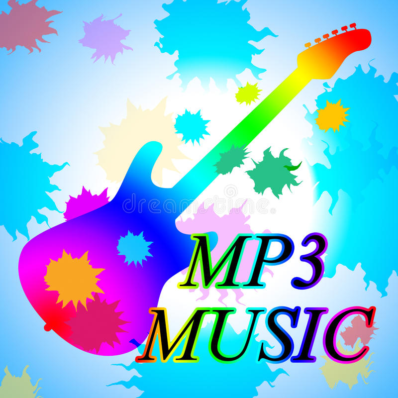 Mp3 toont de Muziek Melody Listening And Sound Track vector illustratie