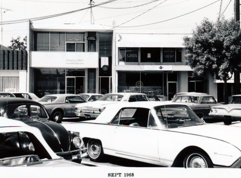 MP1968: Santa Cruz Avenue - lado sur, parte posterior fotos de archivo libres de regalías