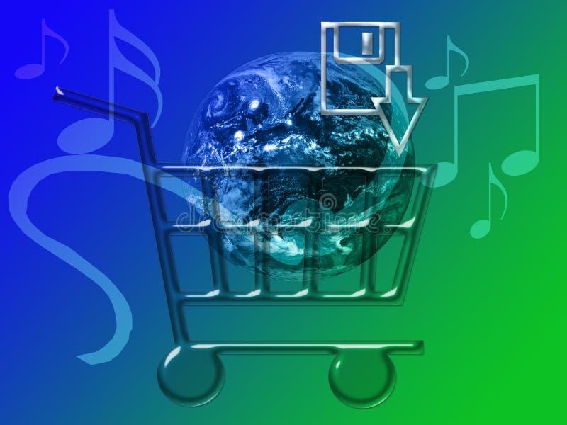 mp3音乐销售额 皇族释放例证