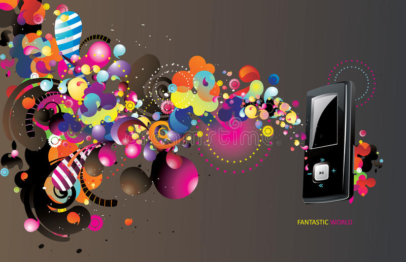 mp3 διάνυσμα φορέων απεικόνιση αποθεμάτων