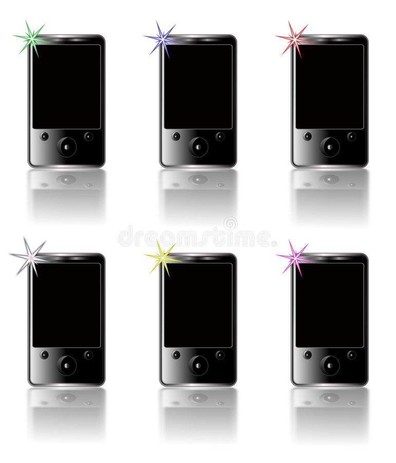 Download MP3 Blank Templates stock illustration. Image of glossy - 12009164