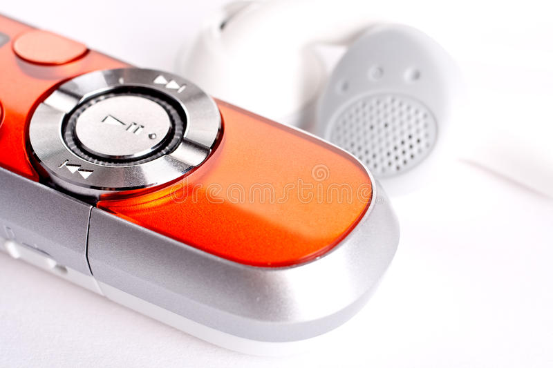 Mp3 player stock image