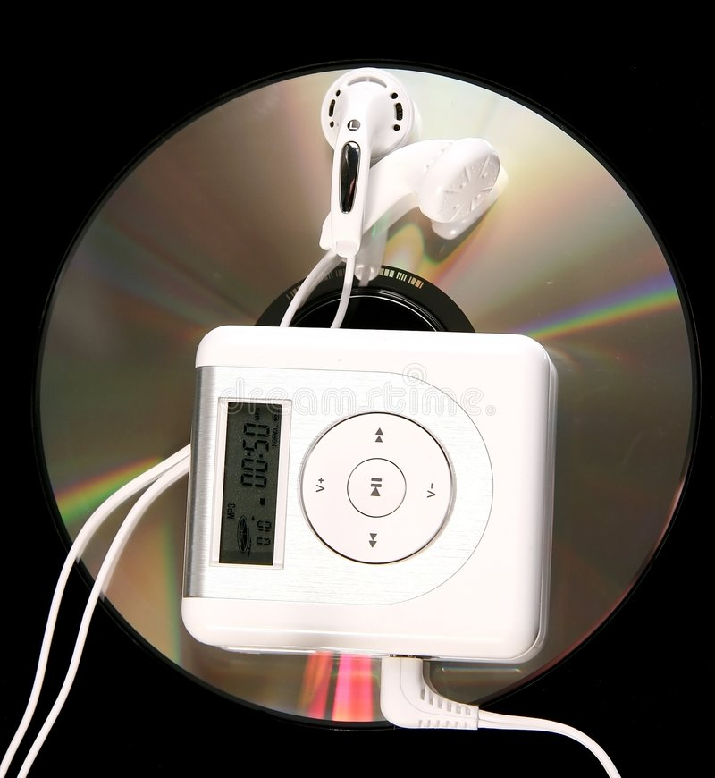 Download MP3 player and CD stock photo. Image of player, earphones - 2622286