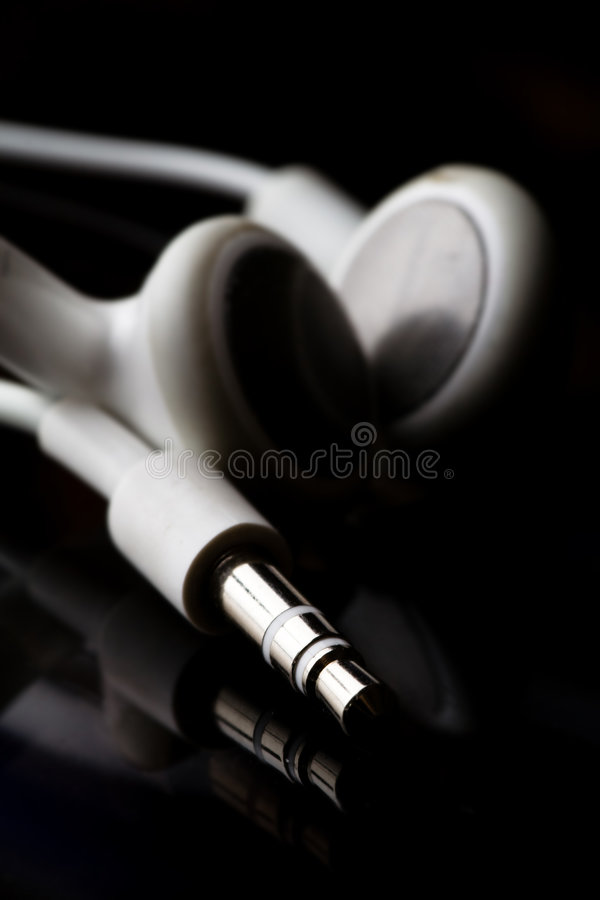 Download MP3 player earphones stock image. Image of song, closeup - 3852577