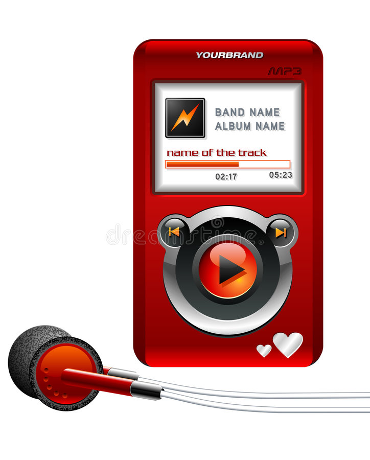 Free Mp3 Player Red Royalty Free Stock Photography - 3004677