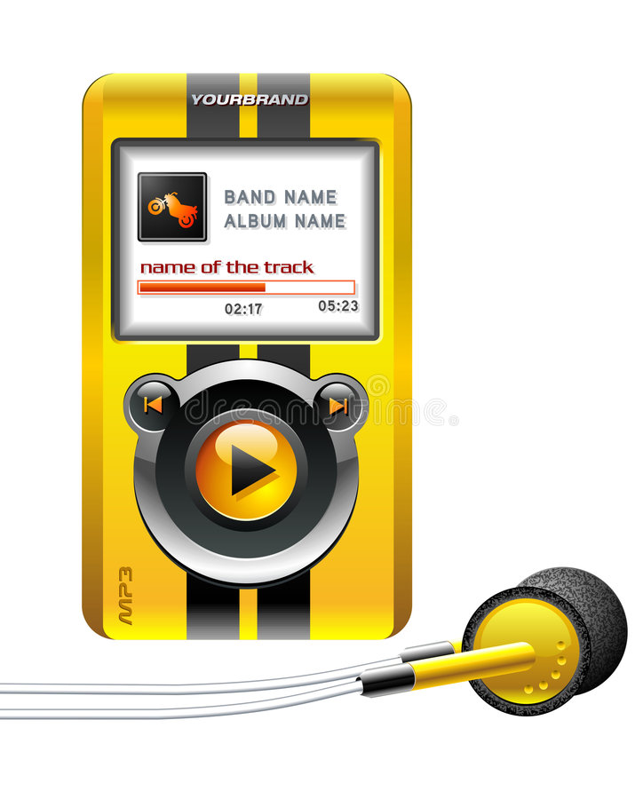 Mp3 Player Yellow Stock Images